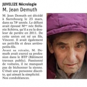 Disparition de Jean Demuth